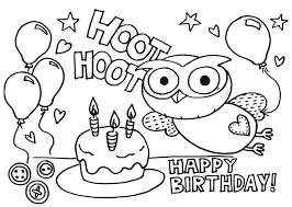 happy birthday cards coloring sheets cake pages printable happy
