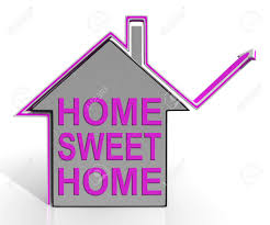 home sweet home house meaning homely and comfortable stock photo