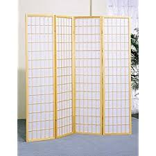 Panel Shoji Screen Room Divider - amazon com 4 panel shoji screen room divider natural finish