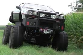monster trucks crashing videos video man builds delorean monster truck doesn u0027t stop there off