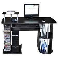 Compact Computer Cabinet Aspect Design Computer Desk With Two Storage Shelves Computer Desk