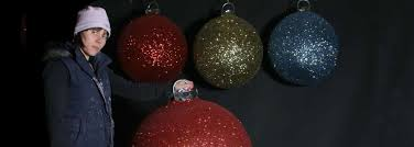 Extra Large Christmas Decorations by Christmas Display Baubles Giant Medium And Small Manufactured