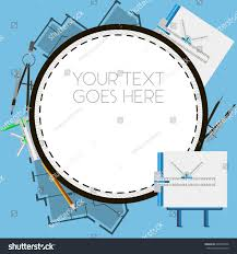 architect template compasses other tools stock vector 600793346