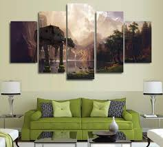 Star Wars Home Decorations by Star Wars At At Walker 5 Panel Canvas Wall Art Home Decor Wall Art