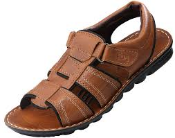 vkc men u0027s tan synthetic leather sandals buy online at low prices