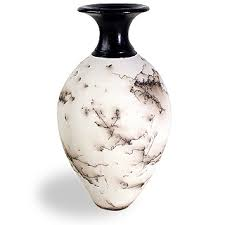 Rosewood Pottery Vase Classic Horsehair Pottery Vases