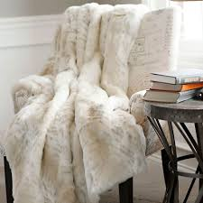 Pottery Barn Throw Decorating Using Comfy Faux Fur Throw For Lovely Home Accessories