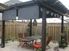 pergola shade made with a painters tarp from home depot a rubber