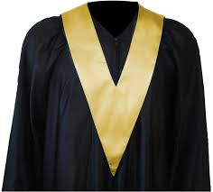graduation toga graduation gown and student tie in colour gold square caps