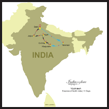 North India Map by Essence Of North India India My Love Voyages