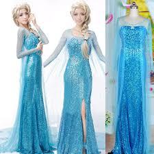 fancy maxi dresses snow elsa women dress party fancy gown dresses