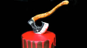 axe cake figurine halloween doll cake halloween cake halloween