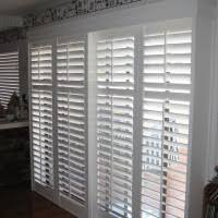Plantation Shutters For Patio Doors Traditional White Wooden Frame Plantation Shutters For Sliding