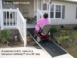 wheelchair ramps literamp 2 piece portable wheelchair and