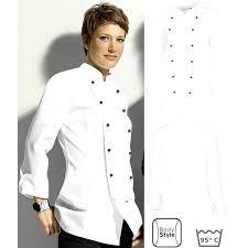 vetement de travail cuisine vetements de cuisine veste de cuisine dame manches longues entretien