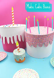 how to make birthday cake boxes home made birthday project