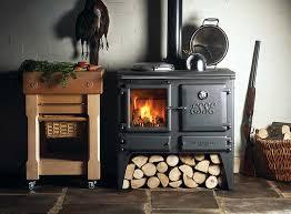 Cheap Wood Burning Fireplaces wood burning cook stove la nordica u201csuprema black u201d made in italy