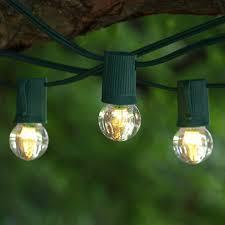 c9 incandescent light strings 100 ft green c9 string light with led g30 warm white bulbs
