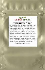 amazon com leena spices thai red seasoning curry powder