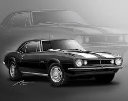 1967 camaro z 28 camaro z28 1967 digital by etienne carignan