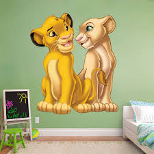 lion king wall sticker simba nala decal disney removable home