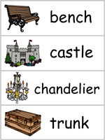 beauty and the beast word wall words