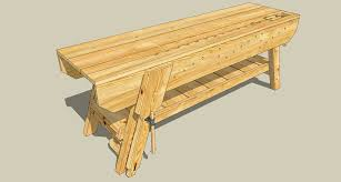 Free Wood Workbench Designs by New Workbench Option Two Jeff Branch Woodworking