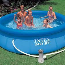 Intex 14 X 42 Intex Pools Inflatable Swimming Pools Easy Set Pools Swimming