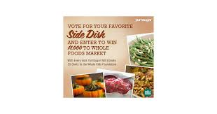 thanksgiving side dish recipes and whole foods market gift card