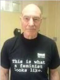 This Is What A Feminist Looks Like Meme - sir patrick stewart fights domestic violence gives out hugs and