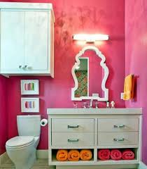 bathroom pretty and cute design pink color full size bathroom cute girls design wall mounted white toilet wooden rectangle racks cabinets unique