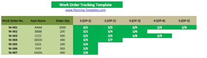 work order tracking template free download excel track material