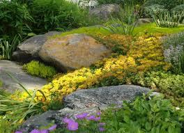 Eco Friendly Garden Ideas Eco Friendly Garden With Rocks Exterior Design Feats Colorful