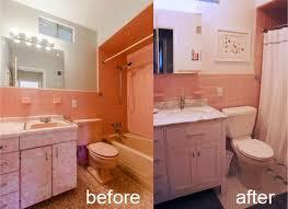 Ranch House Bathroom Remodel Mid Century Pink Bathroom Renovation Andrea Avery