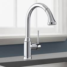polished nickel kitchen faucet hansgrohe 04215830 nickel talis c pull kitchen faucet mega