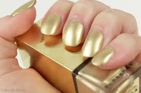 burberry light gold no 107 nail polish festive golden light