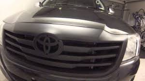 painting front grille matte black on the hilux with plasti dip