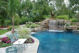 tropical landscape design around pool around pool all natural