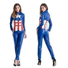 Avengers Halloween Costume Wholesale Halloween Costume Blue Female Captain America