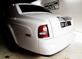 wrapped rolls royce rolls royce phantom wrapped in glossy white