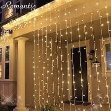 White Icicle Lights Outdoor 3m 1m 160 Leds Warm White Led Drooping Icicle String Lights