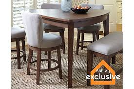 Medium Brown Mardinny Counter Height Dining Room Table View - Hyland counter height dining room table with 4 24 barstools