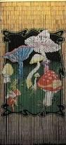 Hippie Beaded Door Curtains Sailboat Print Beaded Bamboo Curtain 36