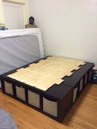 Easy Diy Platform Storage Bed by Best 25 Diy Storage Bed Ideas On Pinterest Beds For Small Rooms