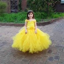 Halloween Costumes Belle Aliexpress Buy Flowers Belle Princess Tutu Dress Girls Baby