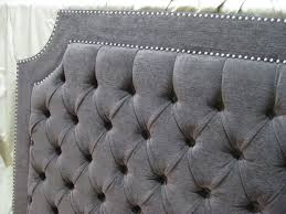 Cushioned Headboards For Beds by Best 25 Grey Tufted Headboard Ideas On Pinterest Cozy Bedroom