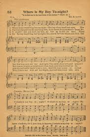 Antique Writing Paper Sonday Where Is My Boy Tonight Antique Hymn Page Printable