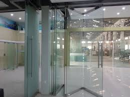 china movable frameless glass wall for office shopping mall and