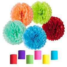 tissue paper streamers rainbow crepe paper streamers tissue paper pom poms for birthday
