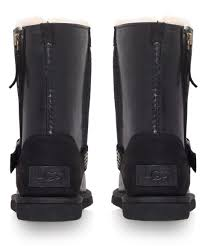 womens ugg blaise boots ugg black blaise ankle boots in black lyst